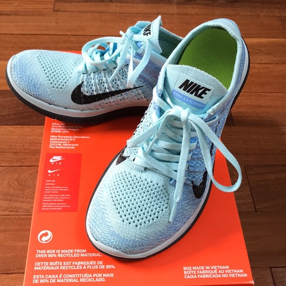 separation shoes 4aa8c 55cde Nike FREE RN FLYKNIT 4.0 (2014) Light Blue Size 7